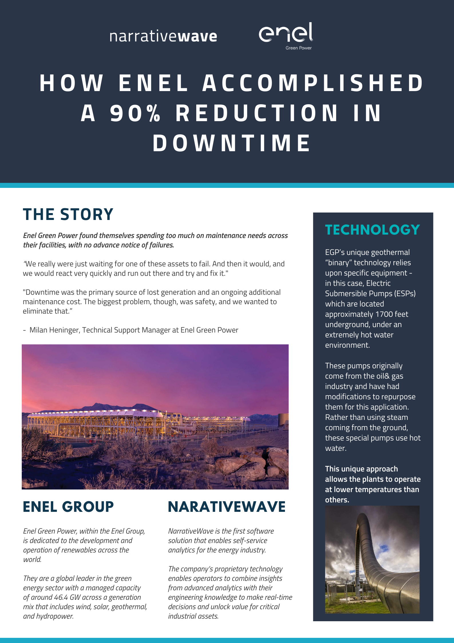 Enel Green Power and NarrativeWave